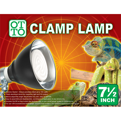 7.2 Inch Reptile Clamp Lamp (L)